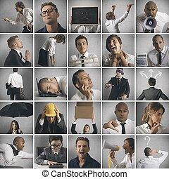 empresa / negocio, crisis, problema, concepto