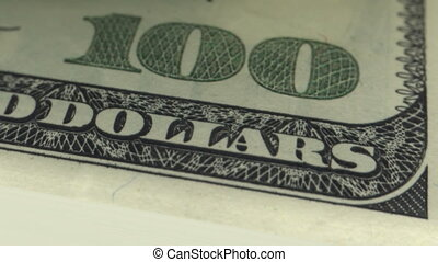 Counting money. 100 dollars bills. Looped. DOF. HD 1080.