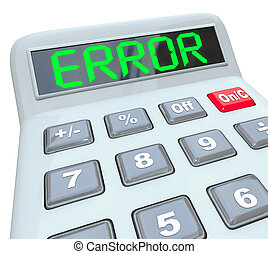 Error Word on Calculator Inaccurate Bad Data Glitch - A...