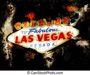 Las Vegas Neon Sign Grunge
