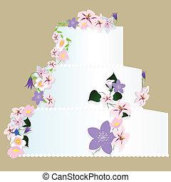 wedding cake - vector illustration of isolated wedding cake