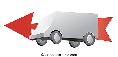 sign for delivery, cartoon illustrations
