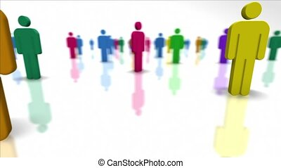 Human resources and teamwork. - Colorful Team Members. Human...
