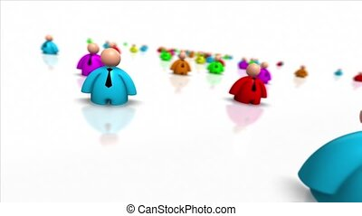 Business People, Human Resources - Colorful Business People...