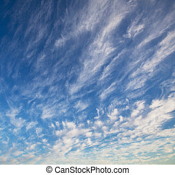 White clouds and blue