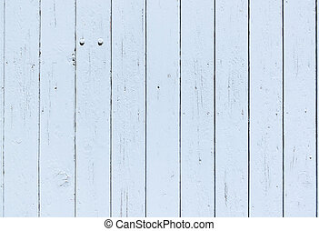 Close up of a traditional old blue painted wooden door in...