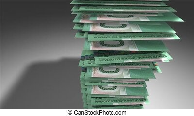Stack of Canadian Dollars. - Huge stack of 20 Canadian...