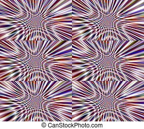 Triple Ripple - Multiple layers of contrasting abstract...