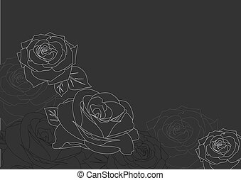background with silhouettes of roses