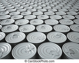 Endless Stockpile of Tin Cans - Infinite Stockpile of 3D...