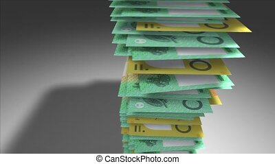 Australian Dollar bills. - Huge stack of Australian Dollar...