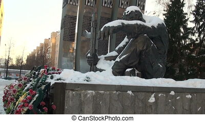 The monument of the Black Tulip in Yekaterinburg. Monument...