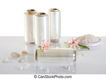 Tubes of polythene for dyeing hair - Four tubes of polythene...