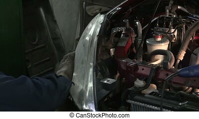 Repair of car