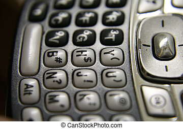 Smart Phone - The keyboard macro shot of a smartphone or...