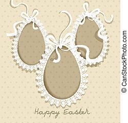 Easter vintage background vector