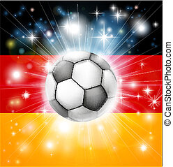 German soccer flag - Flag of Germany soccer background with...