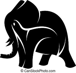 Vector image of an elephant