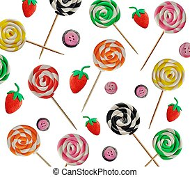 Lolly pop background - Plasticine lolly pop