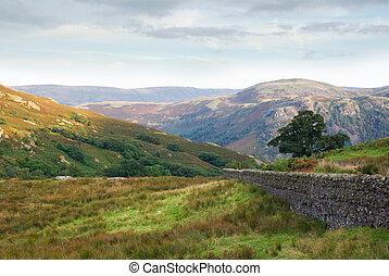 Borrowdale, Cumbria, England - Mountains above the peaceful...