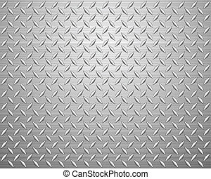 diamond plate - Metal texture background. Vector...