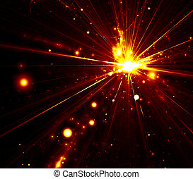abstract explosion background - An illustration of an...