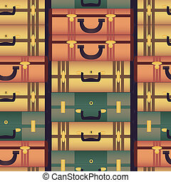 Vintage colorful suitcases Seamless