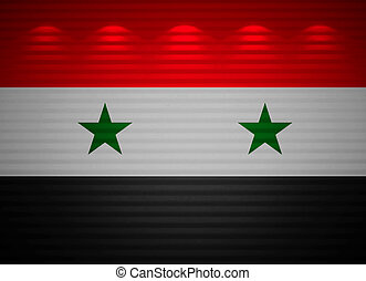 Syrian flag wall, abstract background