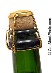 Champagne Bottle Close-Up - Close-up of a champagne bottle...