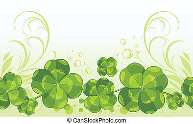 Clover leaves Background - Clover leaves Decorative seamless...