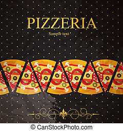 Pizza Menu Template, vector illustration