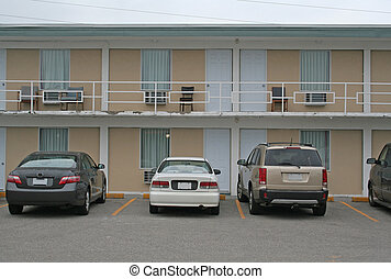 Cheap Motel Exterior - The exterior of a cheap road side...