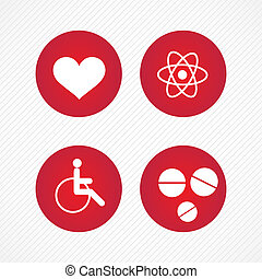Hospital Icons - Red Hospital Icons (colletion set) On grey...