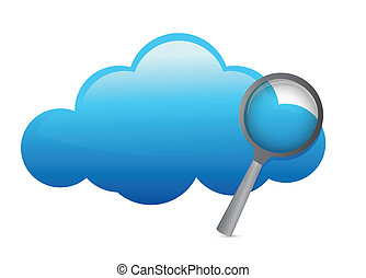 glossy Cloud illustration design over a white background