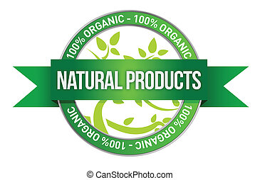 Pure Nature Green Sign illustration design over a white...