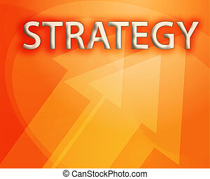 Strategy illustration, abstract management success concept...