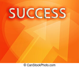 Success illustration, abstract management strategy concept...