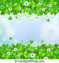 Saint Patrick's Day card - Saint Patrick's Day background...