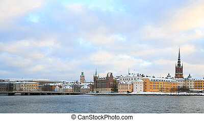 Old Town Stockholm Sweden - Cityscape of Gamla Stan Old Town...