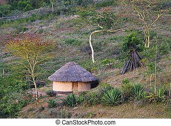 African traditional hut, Kenya