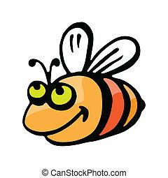 Funny cartoon bee.