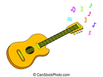 Musical instrument, guitar - Musical instrument: acoustic...