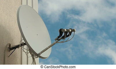 Satellite Television Dish - Satellite television dish on the...
