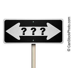 Question Mark Road Sign - Isolated