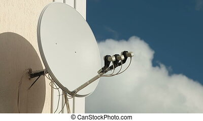 Satellite Receiver Dish - Satellite receiver dish on the...