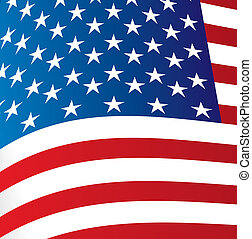 Flag eeuu - Big Flag of United States background vector...