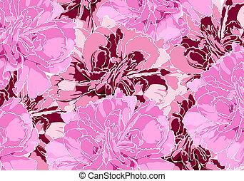 Floral illustration - Floral background (few dark and light...