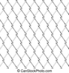 Wire fence - Simple and realistic wire fence design on white...