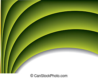 Cool green wave background design with place for text