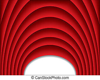 Cool red arch background design with ripple effect